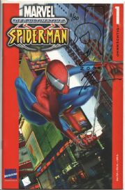 Ultimate Spider-man #1 German Signed Art Thibert Sketch COA Ltd 50 Jay Company Originals